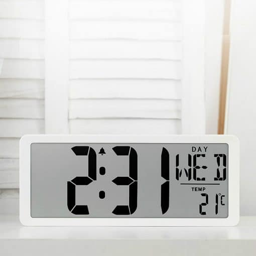 Horloge digitale blanche led murale