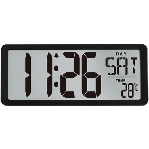Horloge digitale led murale noire