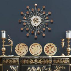 Horloge murale décorative miroir 70 cm de diamètre