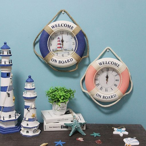 Horloge murale decorative style marine