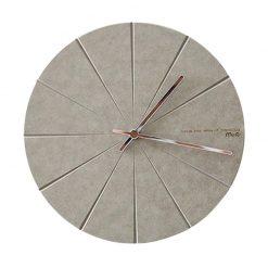 Horloge murale grise design