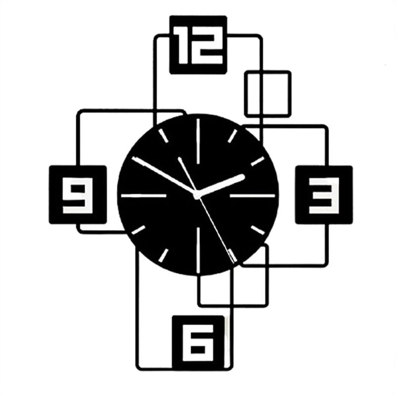 Horloge murale originale noire