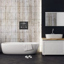 Horloge murale pour salle-de-bain design et moderne