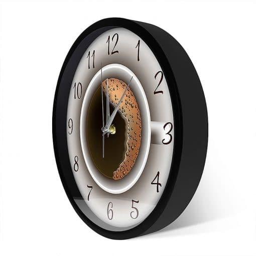 Horloge de cuisine originale murale avec une tasse de café