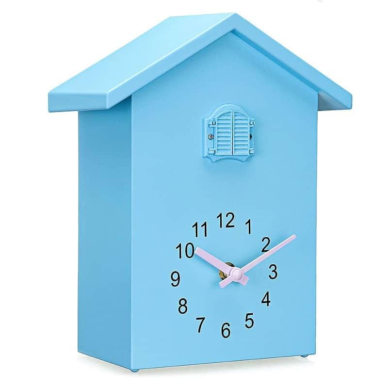 Horloge murale coucou design bleue