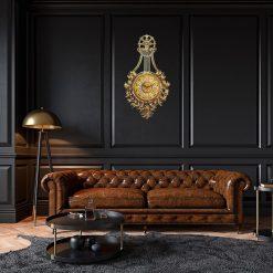 Horloge murale vintage luxe dans un salon