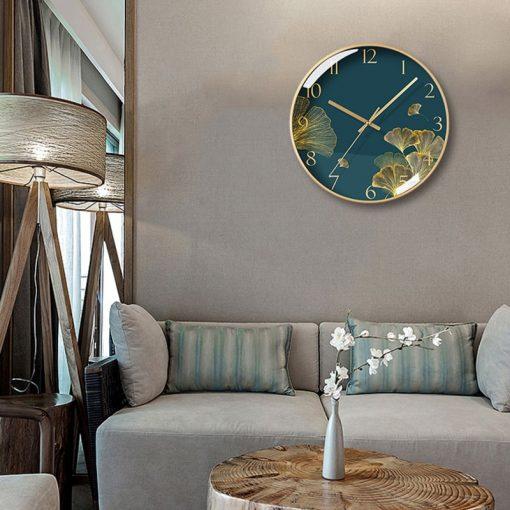 Horloge murale design matériau en verre