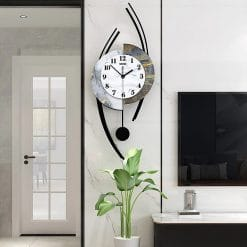 Horloge murale style originale noire, blanche et grise