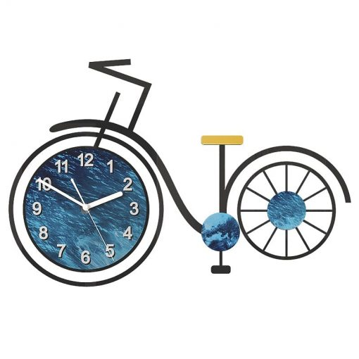 Grande horloge murale originale vélo