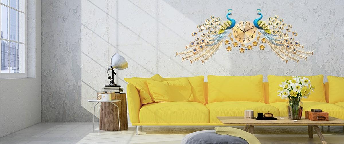 Horloge design geante aux motifs 3D