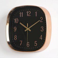 Horloge murale de cuisine moderne en verre de couleur noire 1