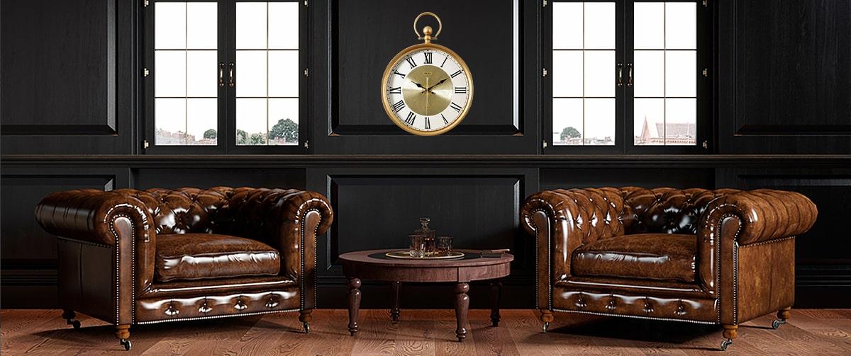 Horloge murale vintage retro industriel haut de gamme
