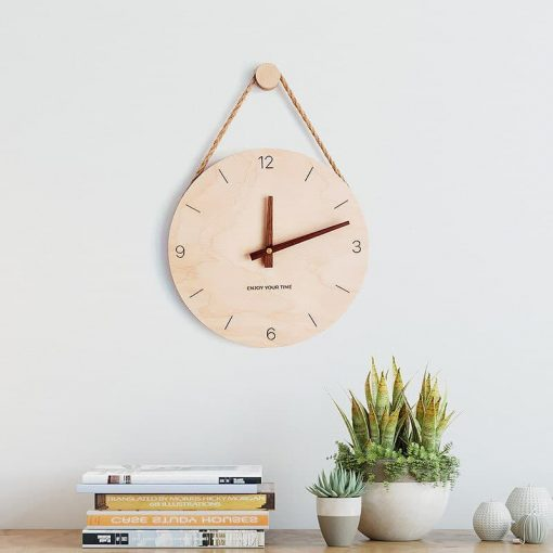 Horloge scandinave en bois
