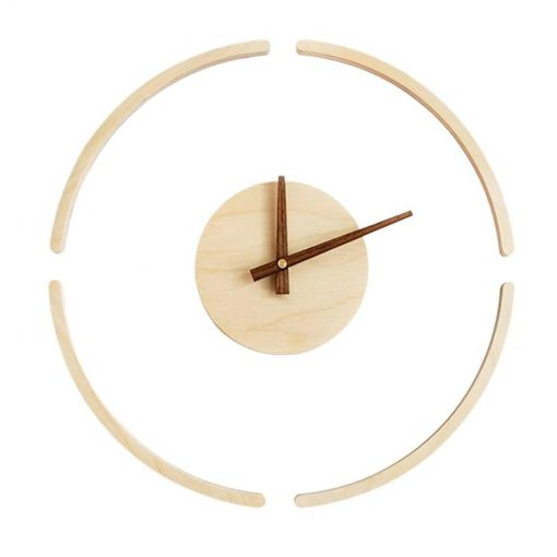 Horloge murale bois moderne