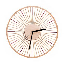 Horloge murale bois vintage