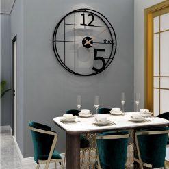 Horloge murale déco industrielle noire