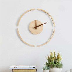 Horloge murale en bois design et minimaliste