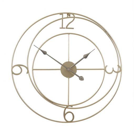 Horloge murale fer forgé 60 cm