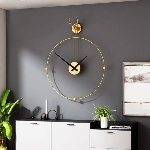 Horloge murale fer forgé design et moderne