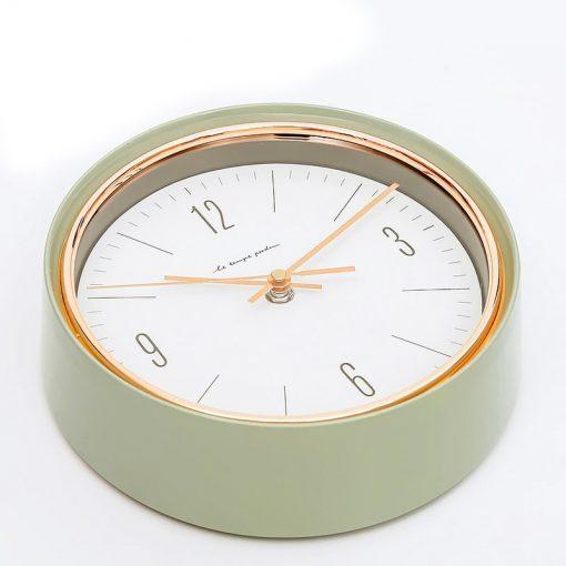 Horloge murale style vintage de couleur verte