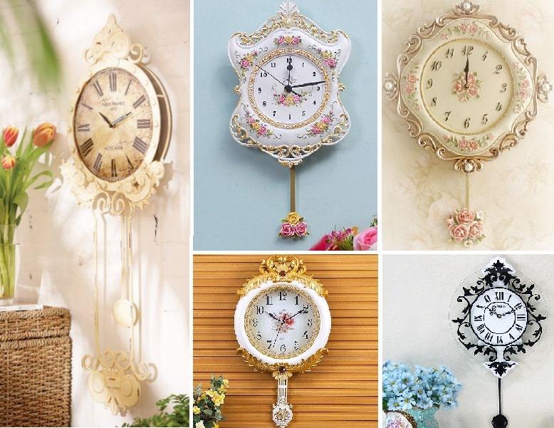 Horloges murales à pendule pour femme
