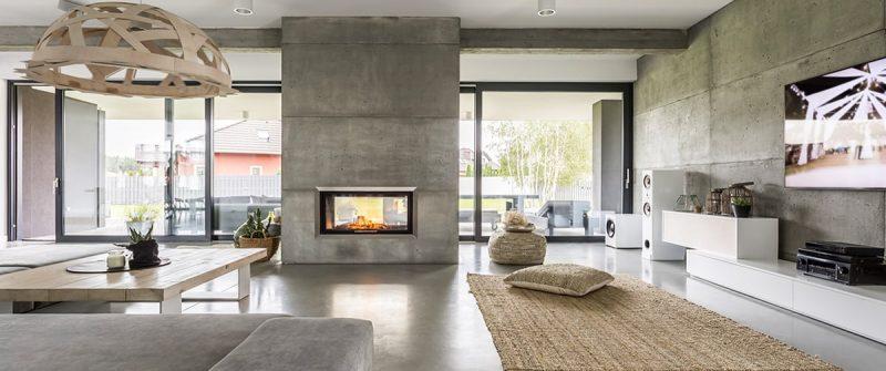 Salon au style design moderne et contemporain