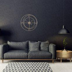 Salon contemporain avec une grande horloge murale de 60 cm en fer forge