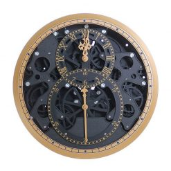 Horloge murale avec engrenage