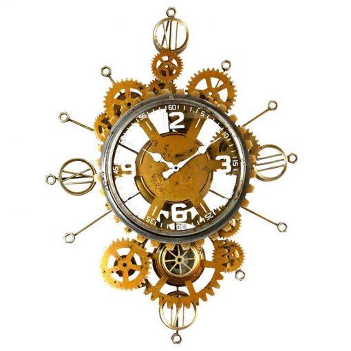 Horloge murale industrielle métal