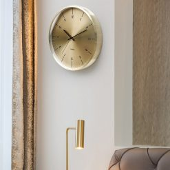 Horloge murale metal design et silencieuse