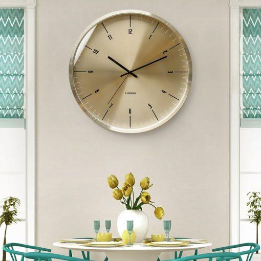Horloge murale metal style design sans bruit